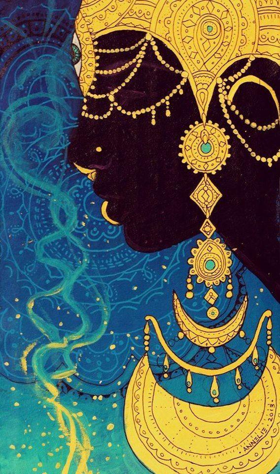 Oxum é um orixá iorubá que reina sobre amor, intimidade, beleza, riqueza e diplomacia.
