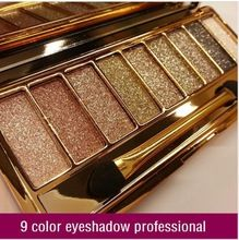 Nieuwe vrouwen 2015 9 kleuren diamant heldere kleurrijke make-up oogschaduw make-up set super flash glitter oogschaduw palet met borstel(China (Mainland))