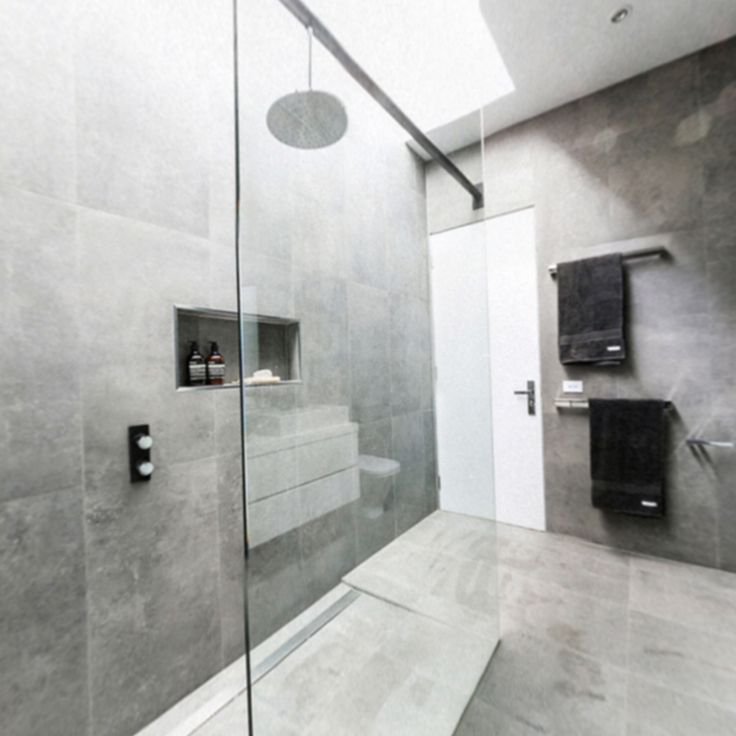 Chris and Jenna: Bathroom | The Block Glasshouse | Beaumont Concrete Fuse Lappato rectified tiles