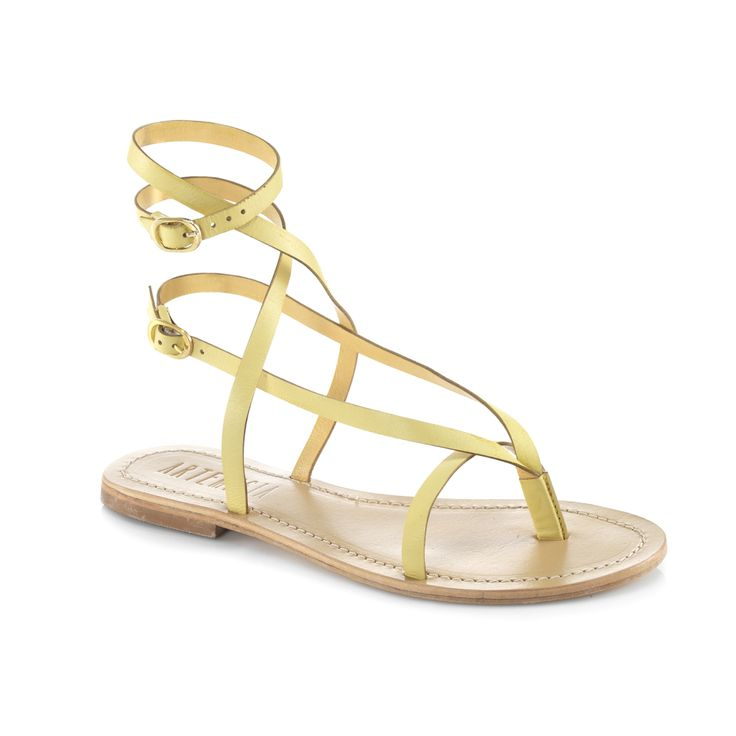 Roman Yellow Sandal. #sandals #colouredsandals #s/s2015shoes