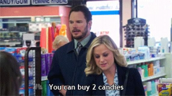 When I go with my mom to the drug store