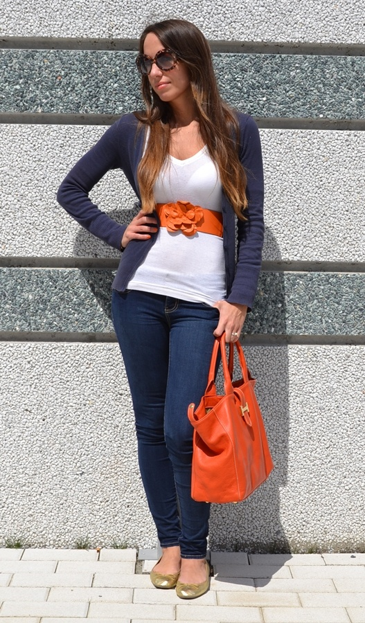 Nameless fashion blog: Nerocipria #orange #fashion blogger #flower #belt