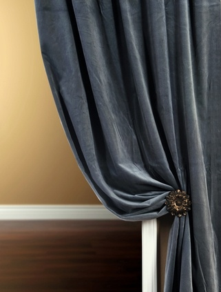 355 best images about decor curtains on pinterest window treatments drop cloth curtains and - Epic window treatment decoration with slate blue curtain ...
