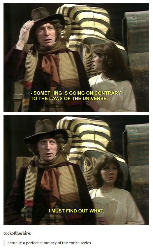 A perfect summary of Doctor Who. And for life, a lovely reminder of the importance of childlike wonder. <3