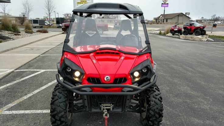 "Used 2013 Can-Am Commanderâ""¢ XTâ""¢ 1000 ATVs For Sale in Wisconsin. These are the side-by-side vehicles that created a new industry standard – because they were built with Can-Am® DNA. Every Commanderâ""¢ features either the 85-hp Rotax 1000 or the 71-hp Rotax 800R engine. That best-in-class power is controlled by precision-engineered handling and, new on 2013 models, Dynamic Power Steering (DPSâ""¢). Consider, too, these vehicles include numerous features designed around the driver and…"