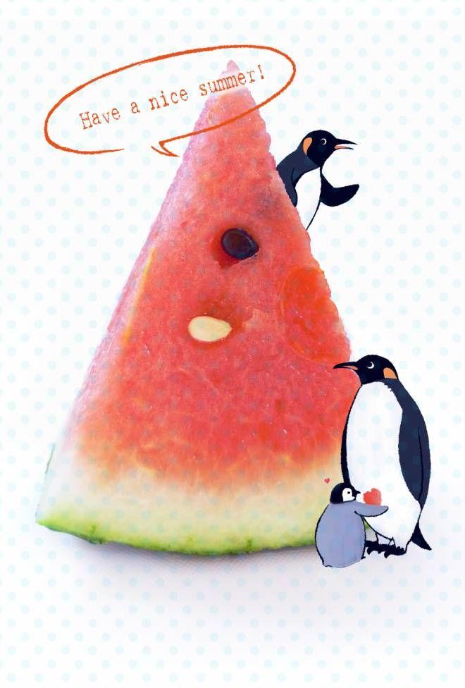 スイカとペンギン