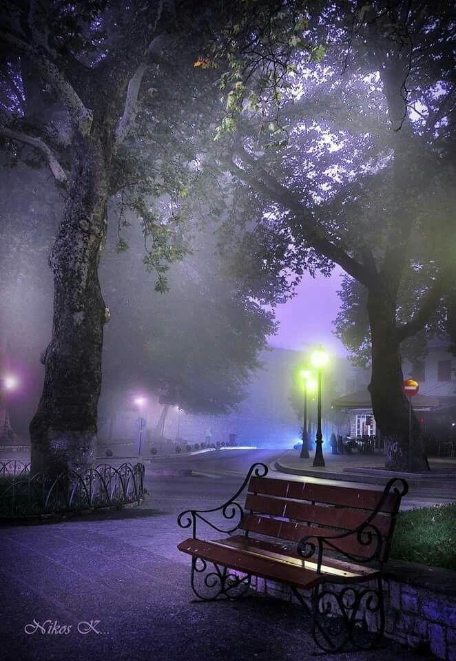 Evening lights in Ioannina...beautiful!! Epirus region, Greece