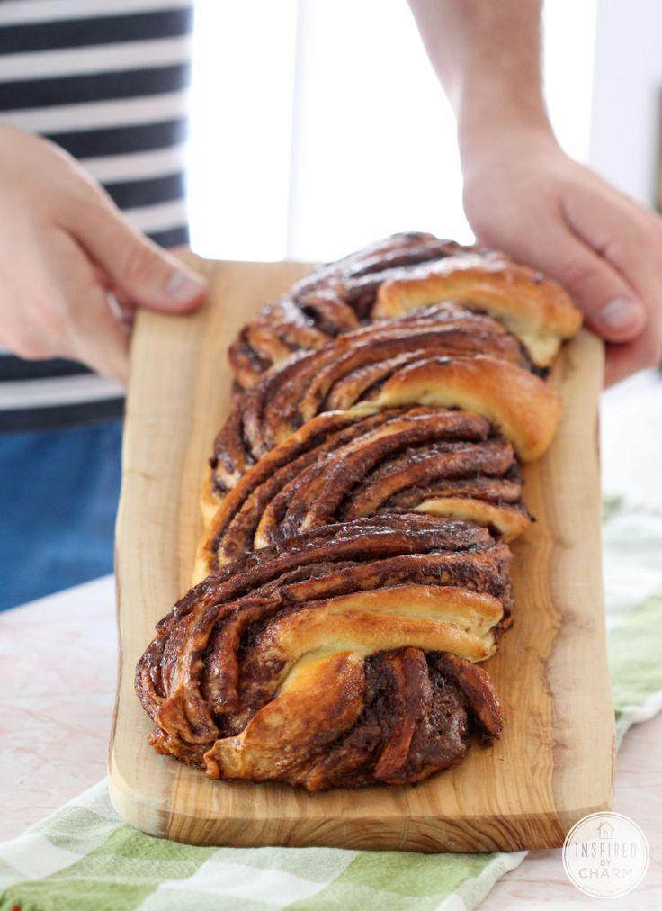 Braided Nutella Bread   Bread Recipes   Pinterest