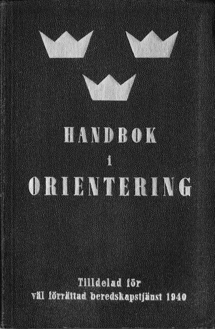 a handbook in orienttering from 1940.  It was my grandfathers