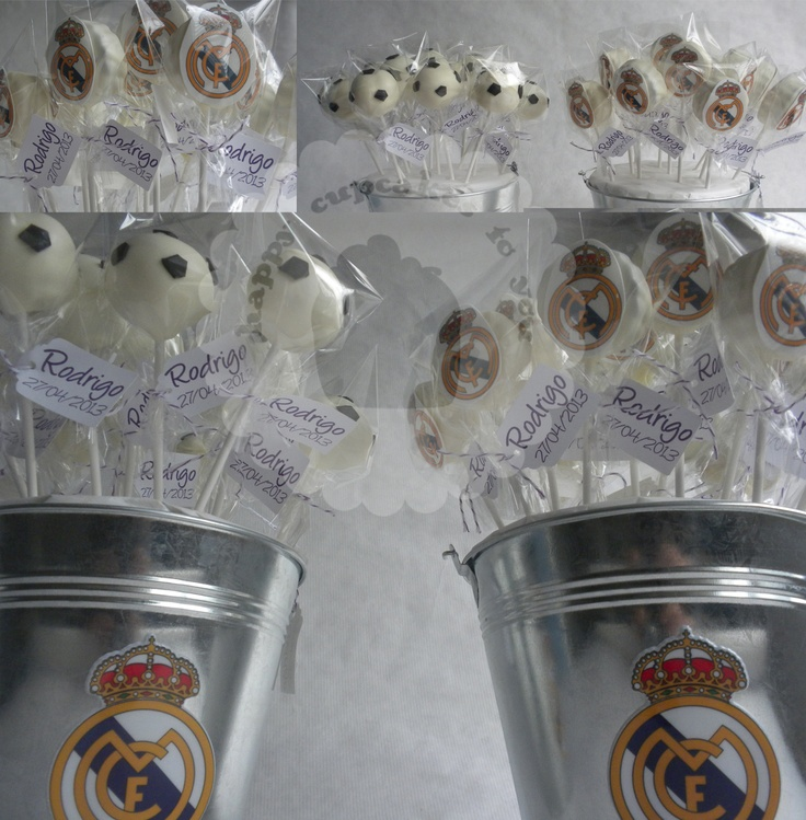 Real Madrid Futbol Cake Pops