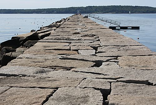 700,000 Tons Of Cut-Granite Make Up The Breakwater