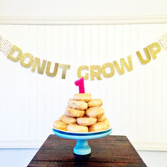 Donut Grow Up Banner by SweetOrangeFox on Etsy