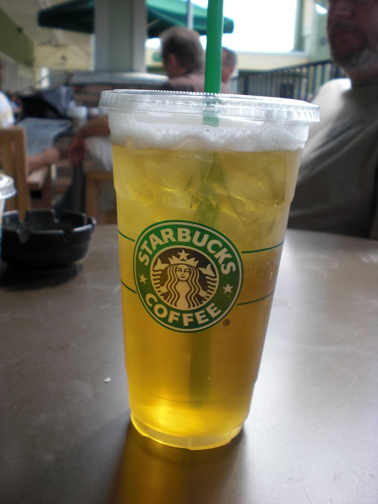 STARBUCKS venti (or trenta) iced green tea. with 2 splendas. everyday.