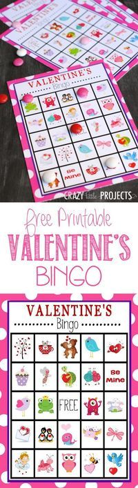 printable valentine, diy crafts and bingo cards.