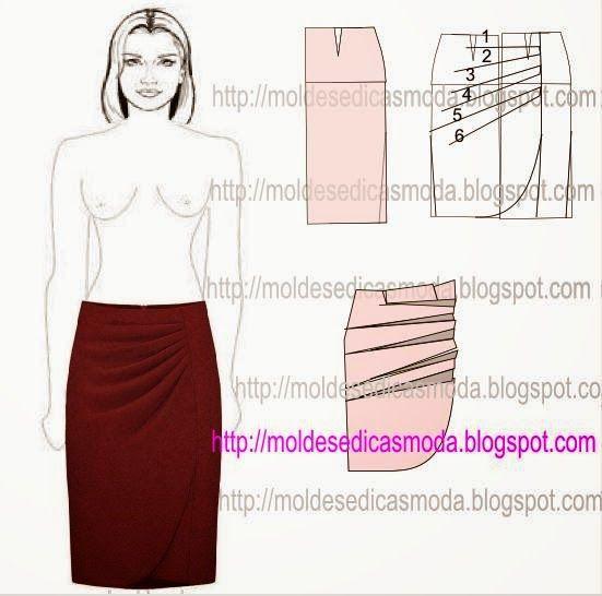 TRANSFORMAÇÃO DE SAIA-21 ~ Moldes Moda por Medida
