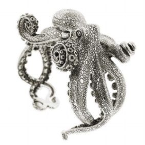 Truly impressive Octopus sterling silver bracelet by Kabana Jewelry.