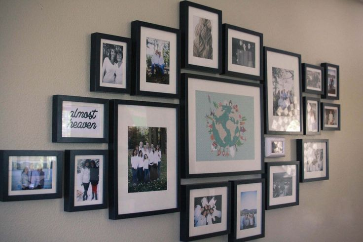 Family Photo Frames On Wall In the end the frame wall