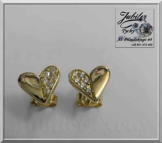 Złote kolczyki serduszka z cyrkoniami na Walentynki <3 #Złote #kolczyki na #wkrętki #sztyft z #cyrkoniami #serduszko #serduszka #serce #heart #Złoto #Au585 #Gold #Złote #serca #walentynki #jubilertychy #cyrkonie #cyrkonia #walentynka #Jubiler #Tychy #Jeweller #Tyski #Złotnik #Zaprasza #Promocje: ➡ jubilertychy.pl/promocje