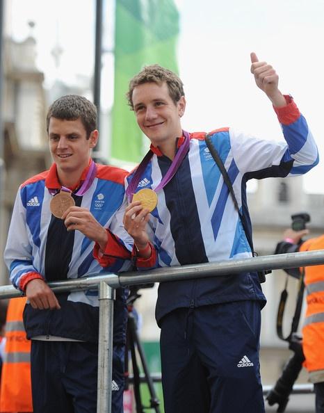 Triathletes Jonathan Brownlee and Alistair Brownlee
