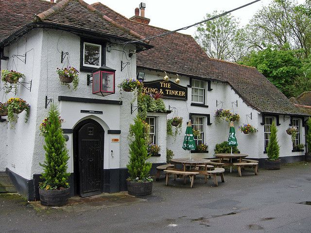 The King and Tinker pub outside of Enfield Town. Love this little place.