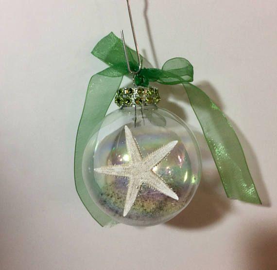 Starfish Beach Ornament, Sea shell home decor, Beach decor coastal, Christmas Ornaments, Coastal decor beach, Beach wedding gifts, Ornaments