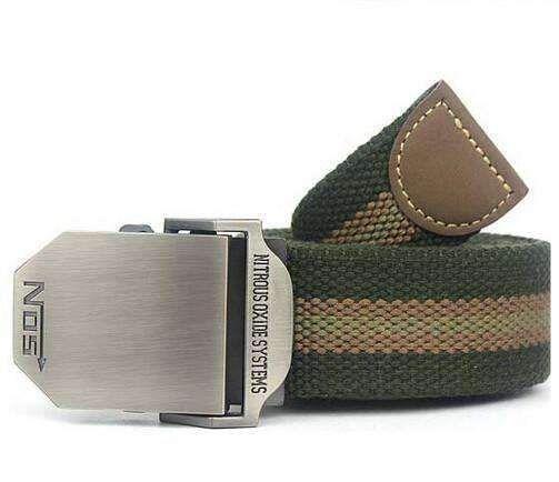 Hot NOS Men Canvas Belt Military Equipment Cinturon WesternStrap Men's Belts Luxury For Men Tactical Brand CintosItem Type: BeltsBelt Width: 3.8cmDepartment Na