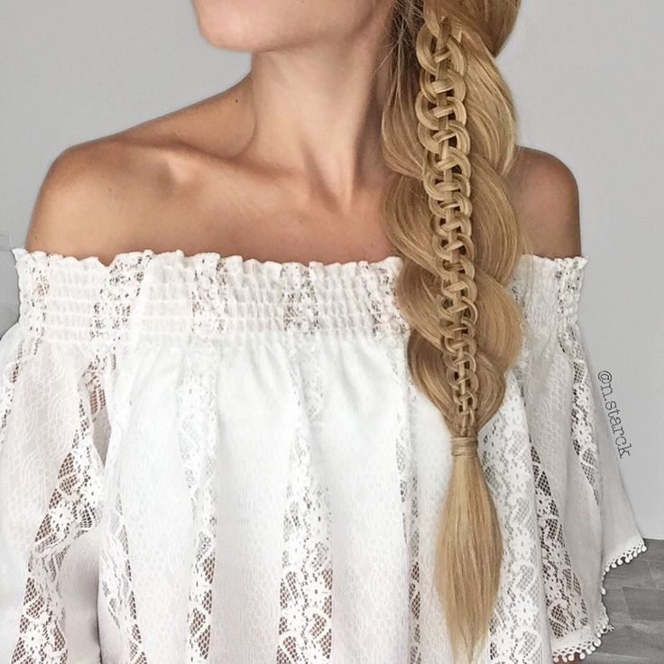 Can't get enough of these stacked styles4-Strand Slide-Up Braid on top of a 4-Strand Braid