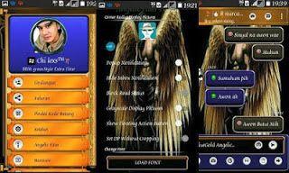 BBM Clone Extra Fitur APK (BBM MOD Blue Gold Angelic Theme) Terbaru
