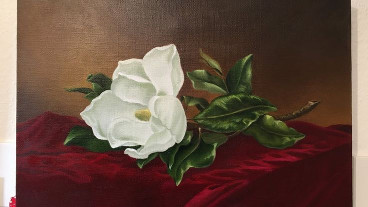 Flowers painting / Magnolia / Finishing an old work