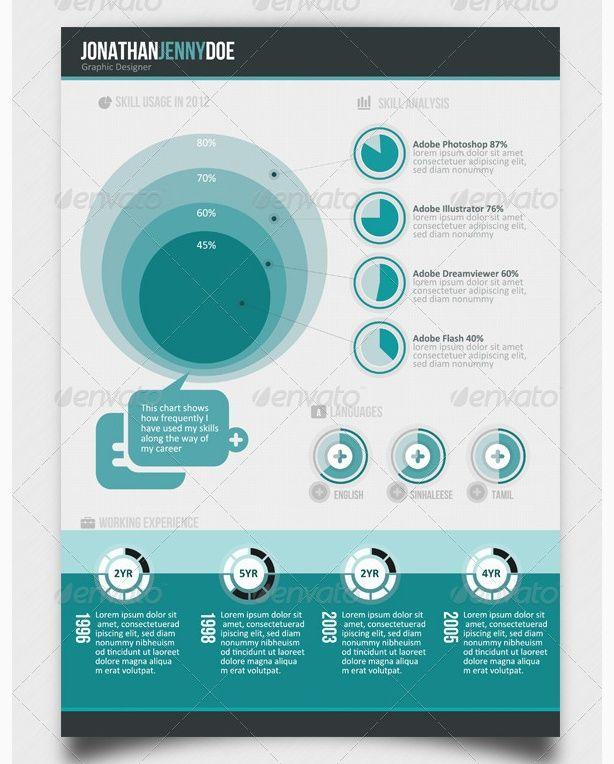 cv modern resume info graphic resume maker