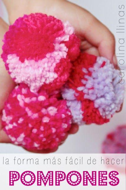 Nuestro Mundo Creativo: La forma más fácil de hacer pompones de lana