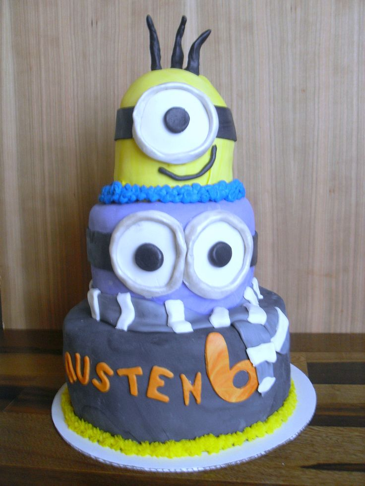 Minion Cake Tutorial on Pinterest  Fondant decorations, Minion cake ...