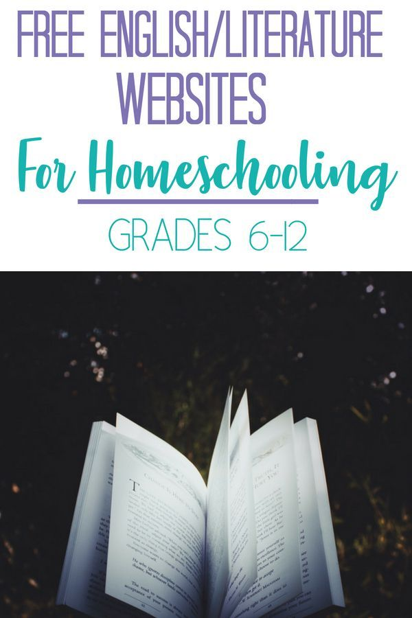 Free Englishliterature Websites For Homeschooling Grades 6 12