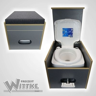 Toilet stool Porta Potti 335 incl. Upholstery black without toilet, 209,00 €