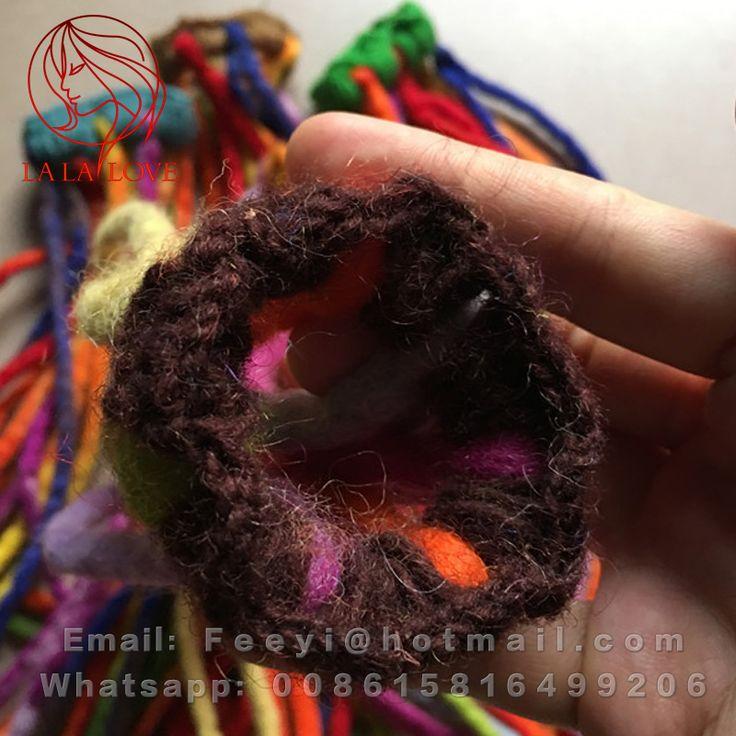Handmade Wool felt material Dreadlocks Hair Reggae Jamaican Rasta Soft Dread crochet wool dreadlocks Braids in Hair Extensions