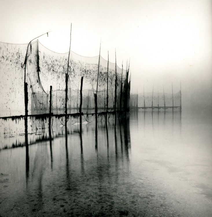 Fishing Weir Study IV, toned silver print, Lisa Tyson Ennis