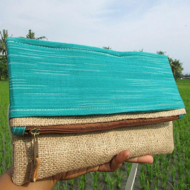 Alicia Tosca Convertible Tenun Lurik Gunny Clutch Bag   Clutch Bag Handmade Goni Tenun Lurik