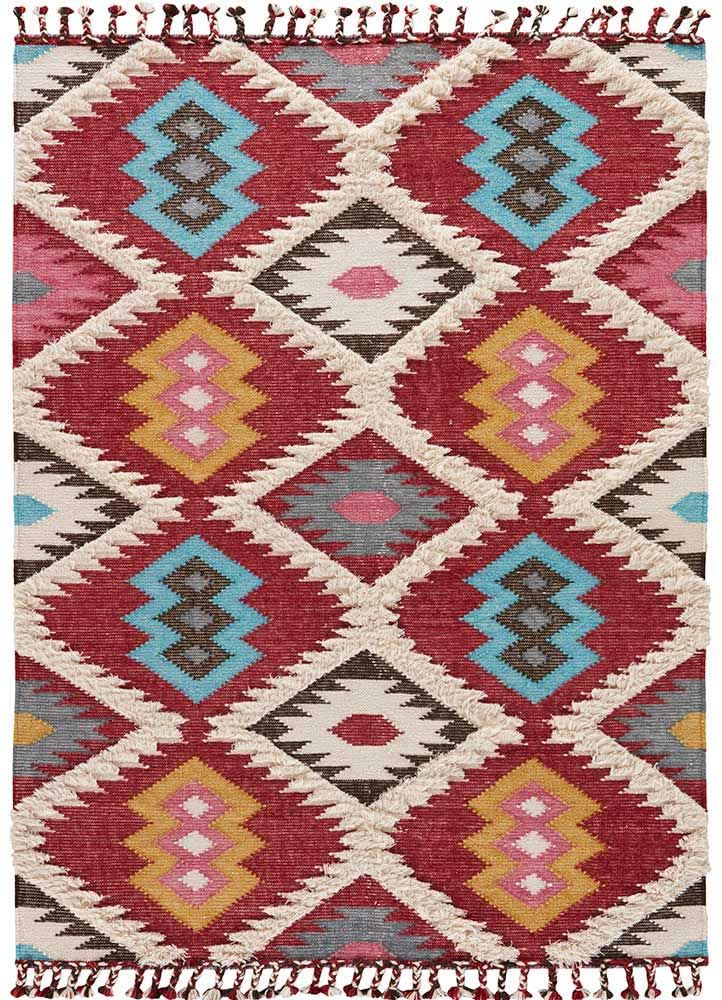 Kokoda Rosewood Area Rug A Flat Weave Textured 80 Wool And 20