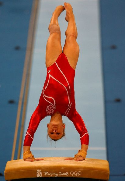 Bridget Sloan of the United States competes in the vault during the artistic gymnastics team event at the National Indoor Stadium during Day 5 of the Beijing 2008 Olympic Games on August 13, 2008 in Beijing, China.