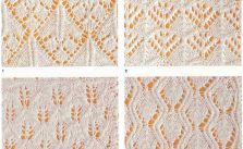 Lace and Leaves - 4 Free Knitting Stitches