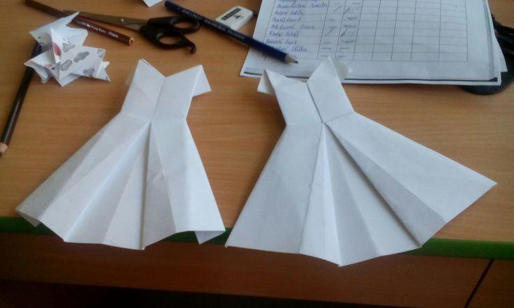 Origami šaty
