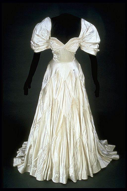 Evening Dress Silk Probably British 1945 British Wedding Dresses Dress Images Dresses