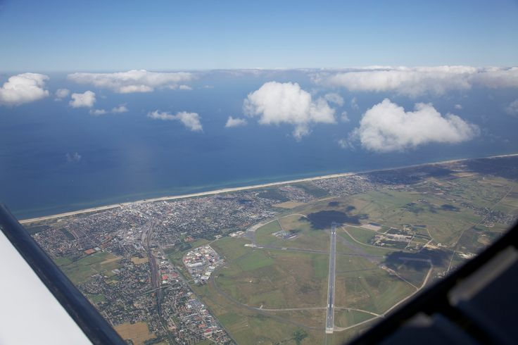 Overflying the airport of Sylt on our leg towards Reykjavik, Iceland.