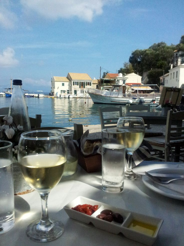 Lunch at Loggos, Paxos ,Greece