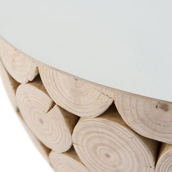 MARK TUCKEY big log coffee table detail shot