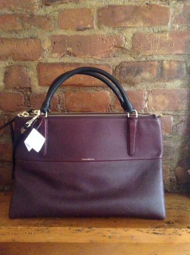 New Coach Borough Bag 28160 Oxblood Pebbled Leather Handbag In 2018 All Aboard The Pinterest Handbags And