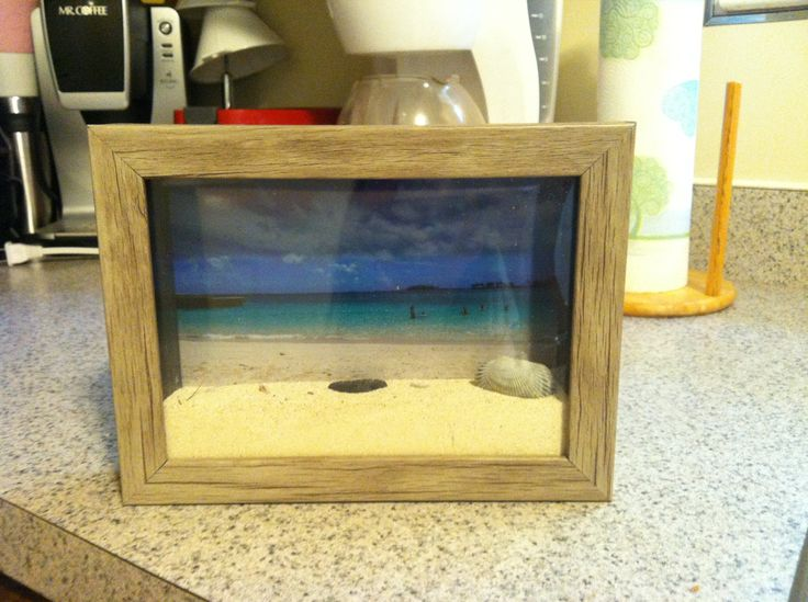 Shadow Box Of Your Beach Vacation With Sand From That Beach!!!!