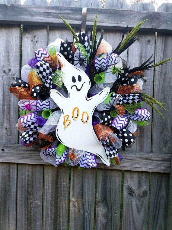 Halloween wreath, halloween door decor, halloween decorations, fall