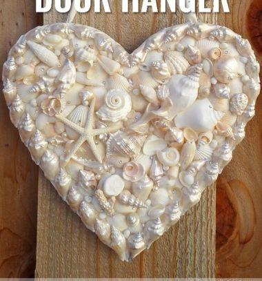 DIY Seashell heart door hanger - summer decor // Szív alakú nyári kopogtató gyöngyházfényű kagylókkal  // Mindy - craft tutorial collection