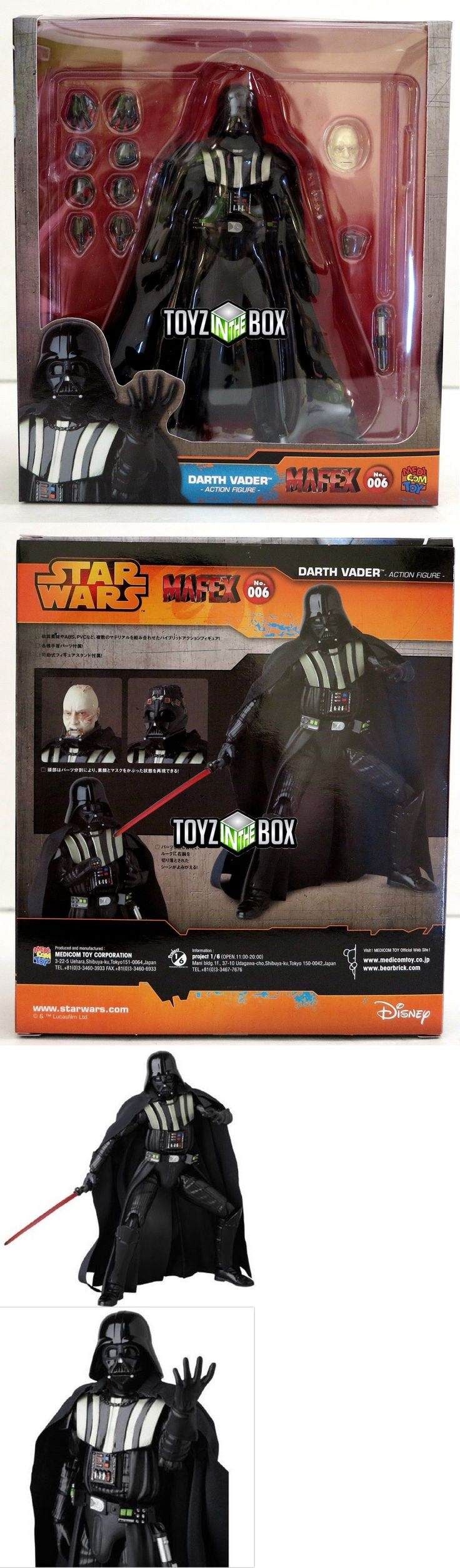 Toys And Games: In Stock Medicom Toy Star Wars Darth Vader 006 Mafex Action Figure -> BUY IT NOW ONLY: $52.99 on eBay!